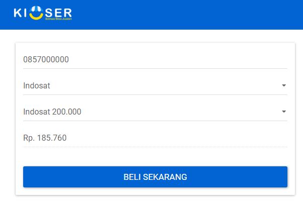 Daftar Harga Pulsa Indosat Di Layanan Kioser Blog Kioser